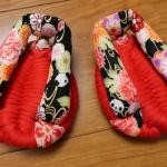 かわいい、かわいい、足半草履の布ぞうりバージョンがでます!!!