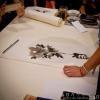 先日、水墨画の体験会に参加した (Instagram)