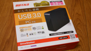 REGZA 42Z8の録画用HDDはバッファローのHD-LC3.0U3-BKCにしてみた