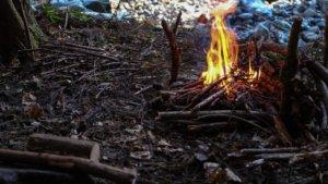 ブッシュクラフトで焚き火してきました